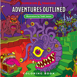 Dungeons Dragons Adventures Outlined Dungeons Dragons